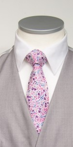 purple liberty print tie