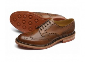 Brown leather vintage brouge