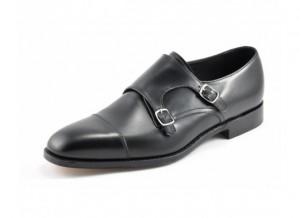 Black wedding monk shoe