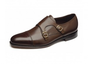 Brown wedding monk shoe