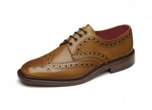 Tan leather casual brogue