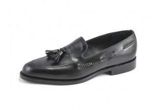 Black loafer wedding shoe