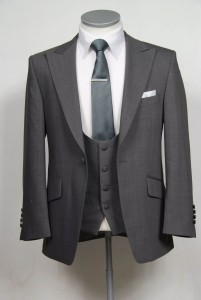 grey slim fit suit hire