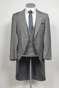 slim fit grey tails