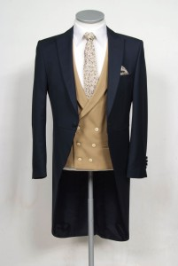 slim fit navy tails