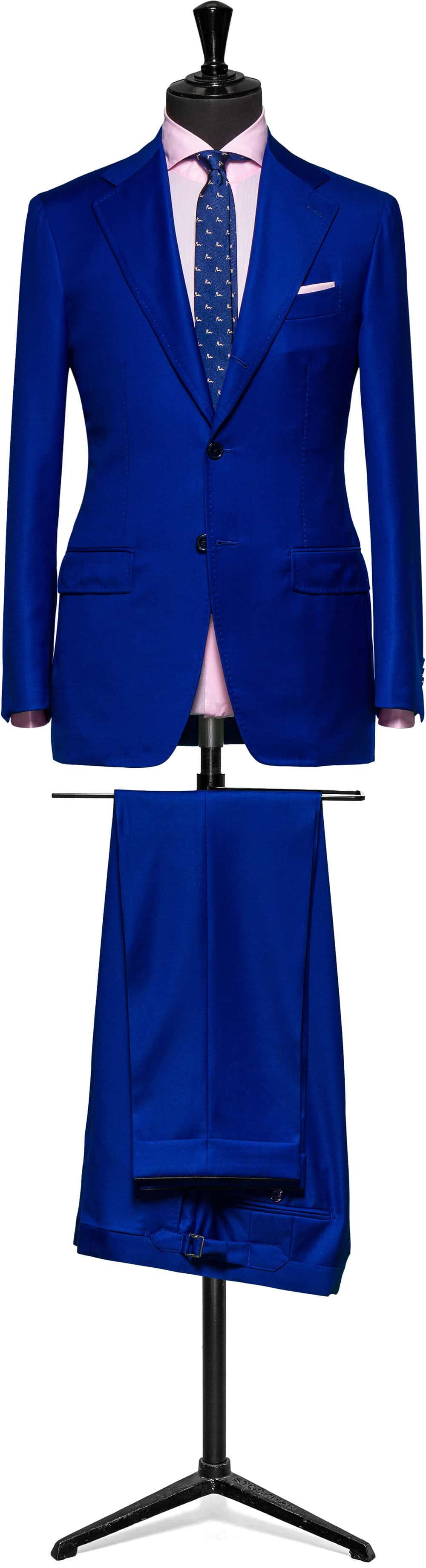 electric / royal blue slim fit suit