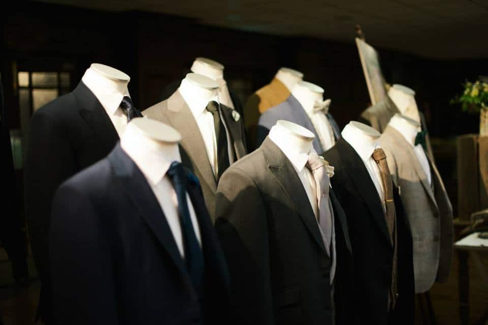 slim fit vintage wedding suit hire at wedding shows essex, hertford