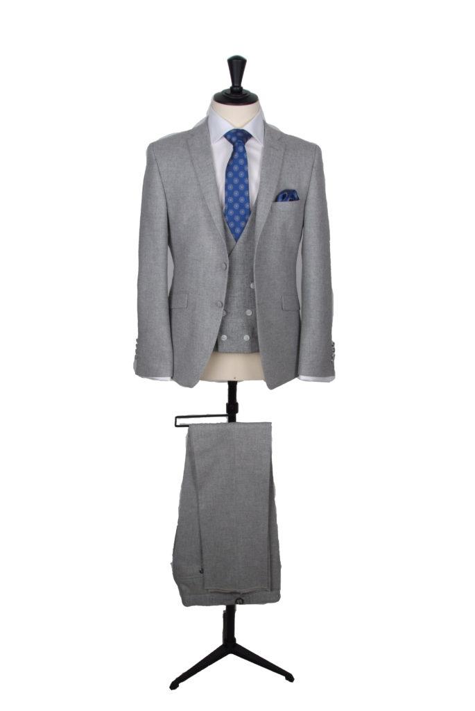 vintage grey tweed suit hire