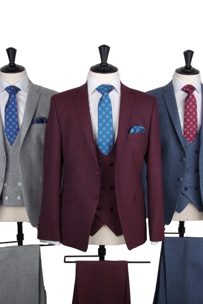 Vintage lambs wool tweed suit hire
