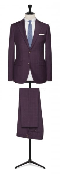 Burgundy check summer suit