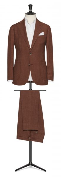 rust summer linen wedding suit