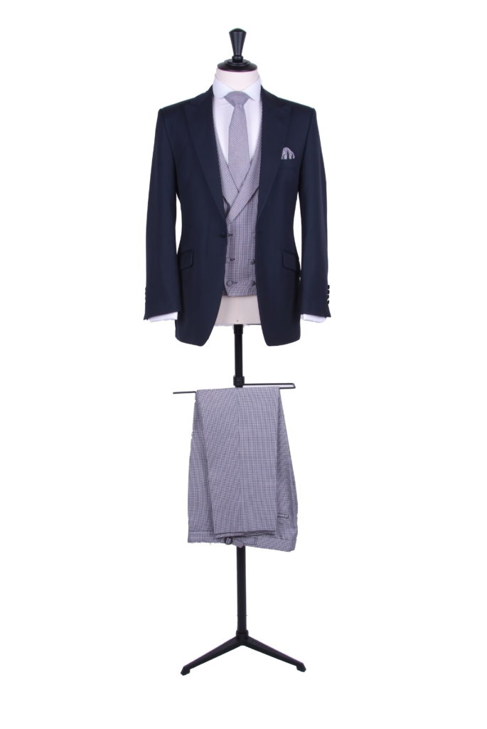 contrast suit hire for grooms wedding designer