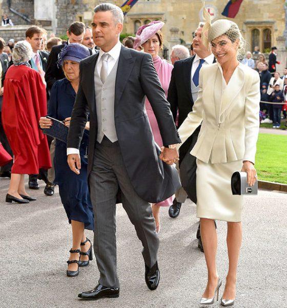 Robbie Williams classic wedding tails suit