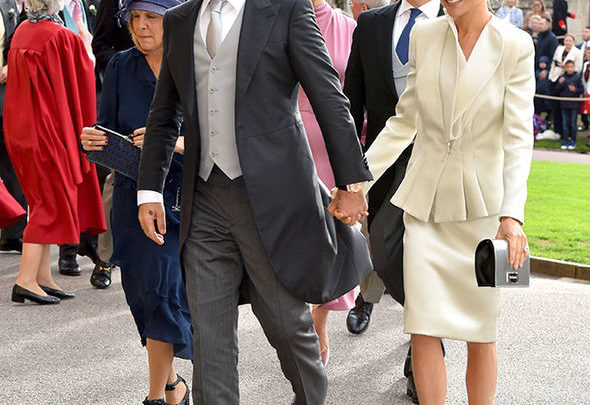 David Beckham / Robbie Williams royal wedding suit.