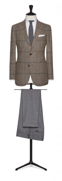 Jacket and trouser work suit contrast