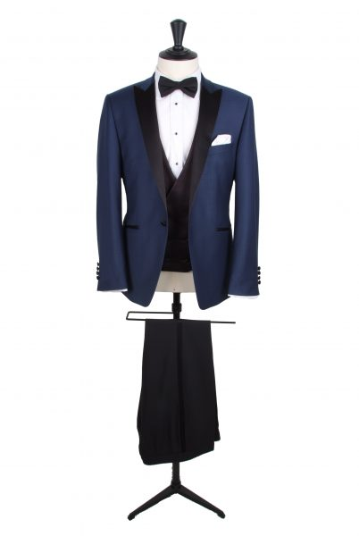 Slim fit dogtooth dinner suit hire