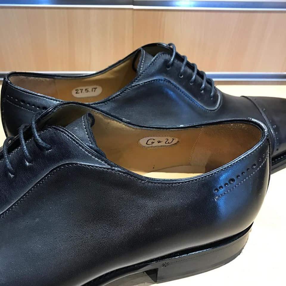 Monogram inside bespoke shoes