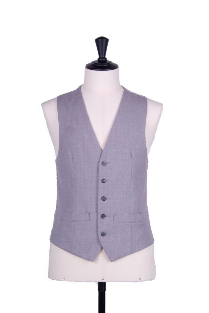 Single breasted grey wedding waistcoat