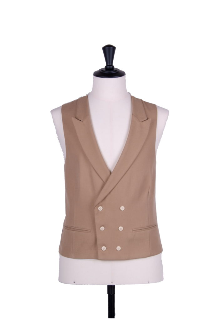 Double breasted wedding waistcoat