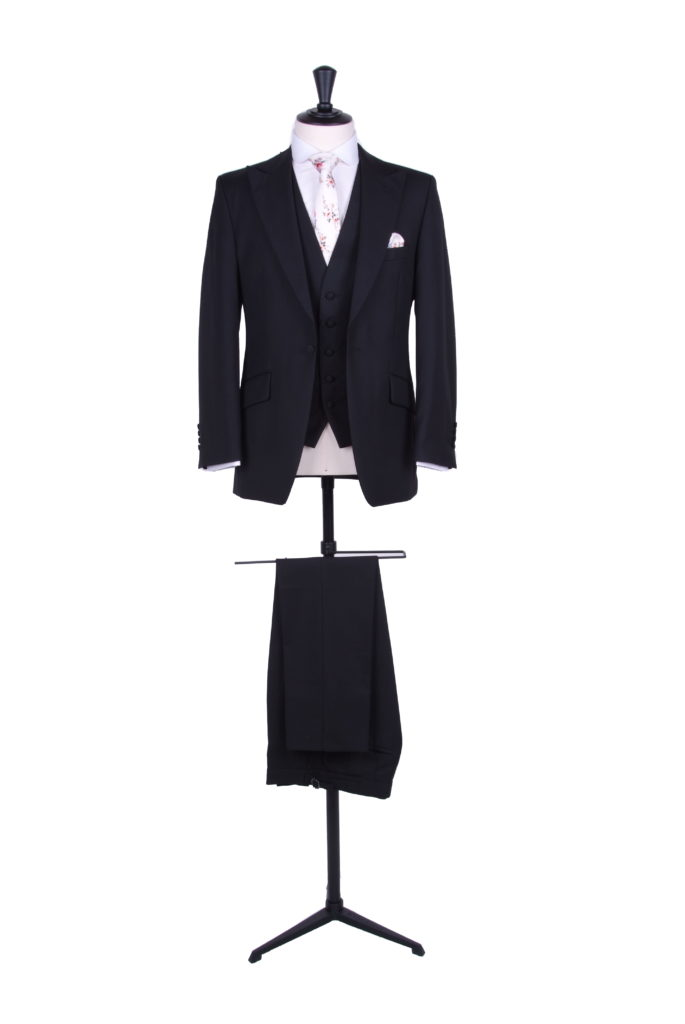 Black slim fit lounge suit