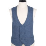 lambs wool scoop double breasted waistcoat