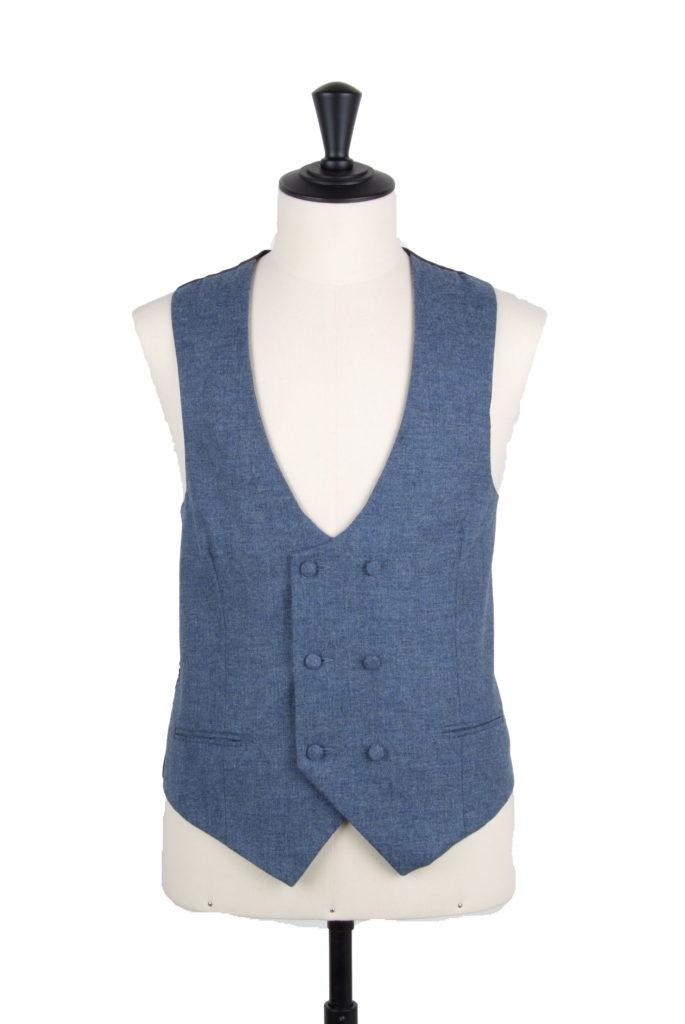 lambs wool scoop double breasted waistcoat