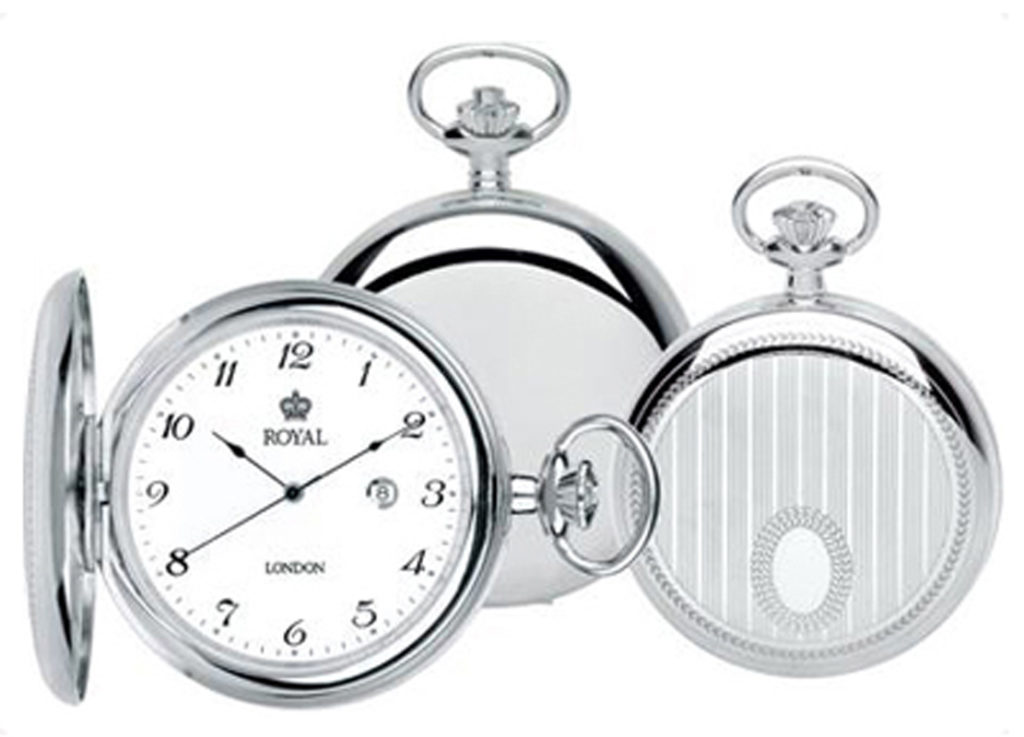 Silver hunter Grooms pocket watch