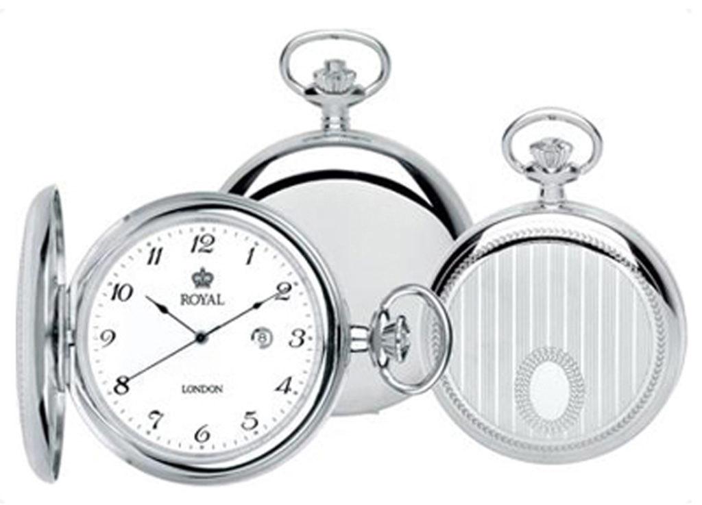 Silver hunter Grooms pocket watch
