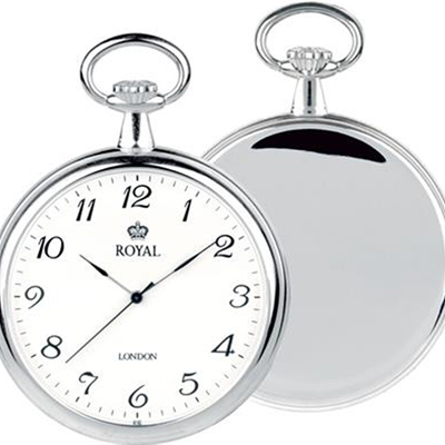 Silver open face Grooms pocket watch