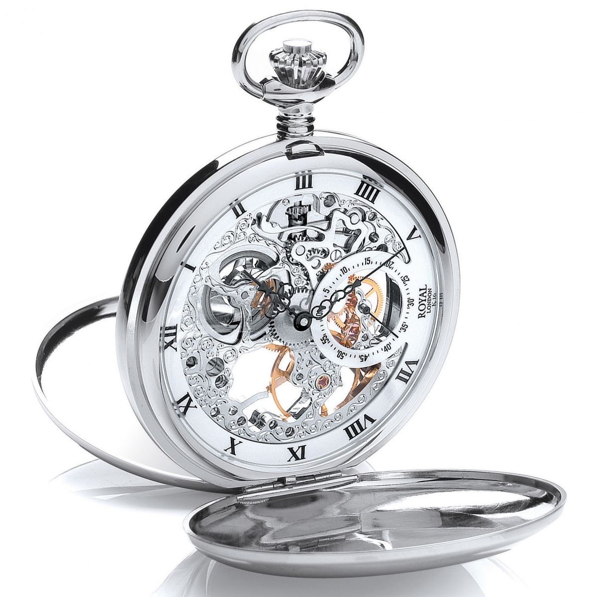 Skeleton pocket watch Groom