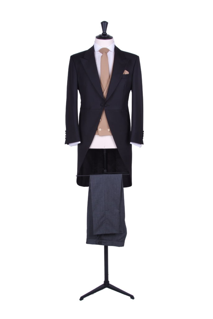 Black slim fit tails Ascot hire