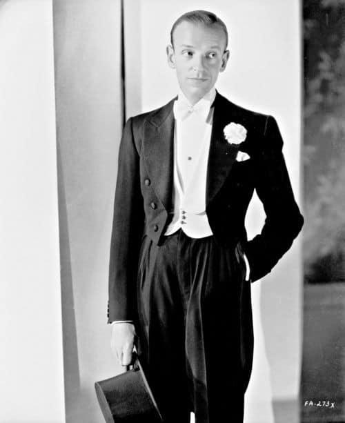 Fred Astaire in classic white tie attire