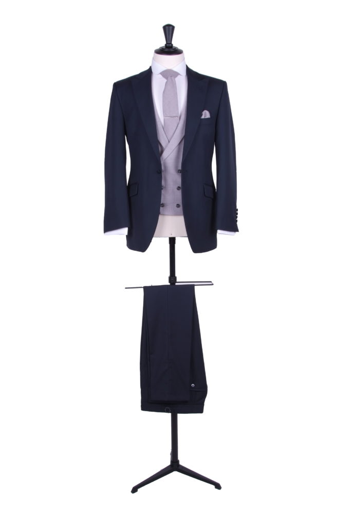 Navy hire slim fit suit