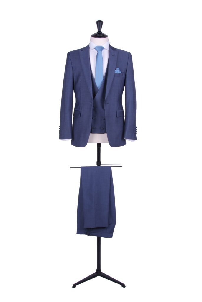 hire suit slim fit blue