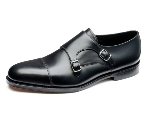 Loake cannon black monk shoe