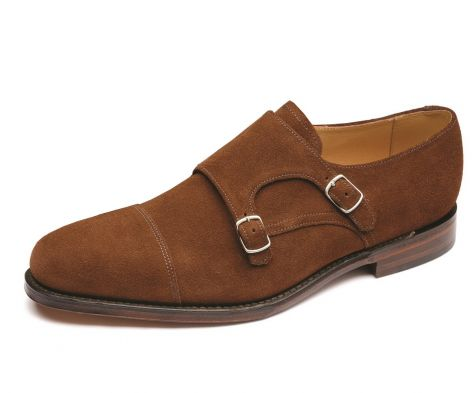 Loake cannon monk brown suede