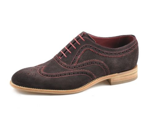 Loake Fearnley brown suede