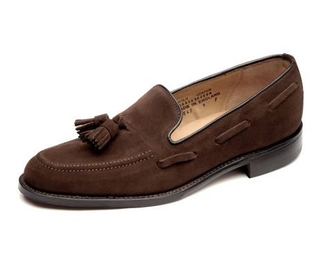 Loake lincoln brown suede loafer