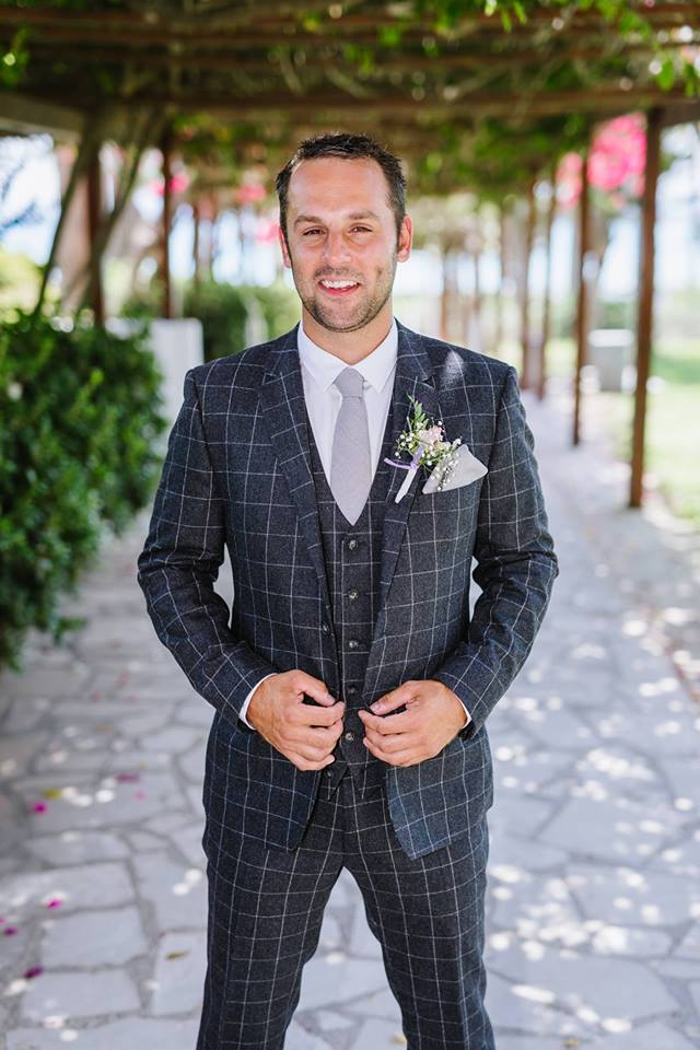 Anthony midnight check made-to-measure suit