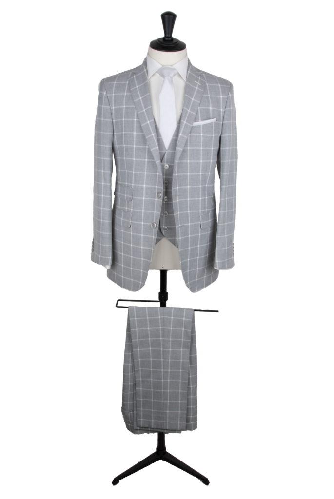 grooms custom macde check wedding suit
