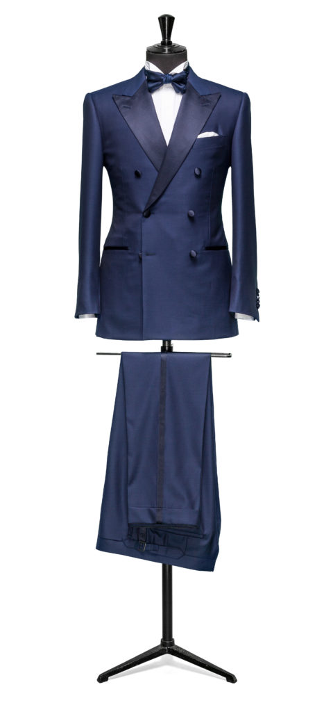 Blue DB dinner suit made to measure