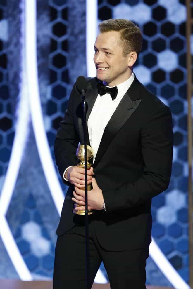 Taron Egerton at Golden Globes 2020