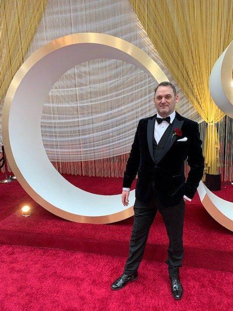 Dominick Fairbanks wearing Anthony formal wear
