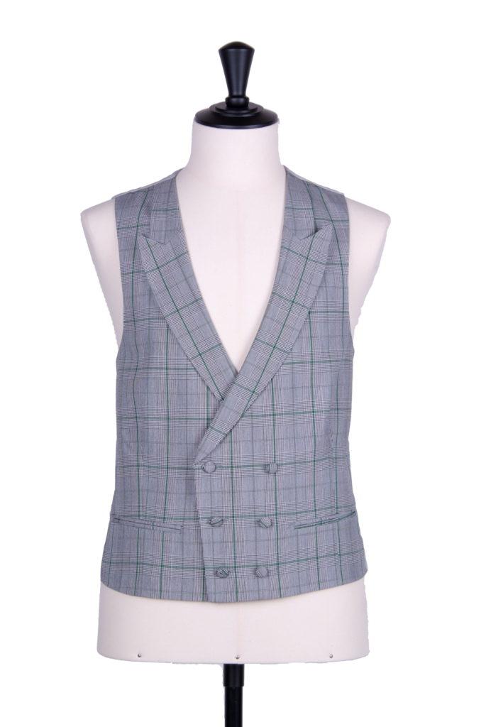 Prince of Wales green DB waistcoat