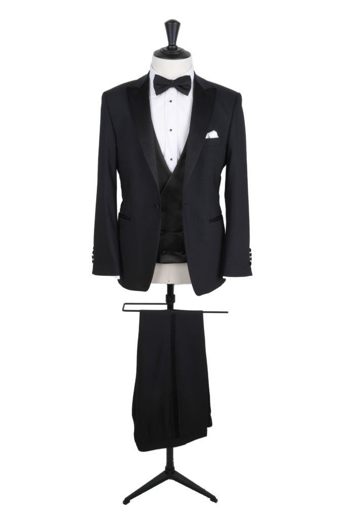 Hire slim fit peak lapel dinner suit