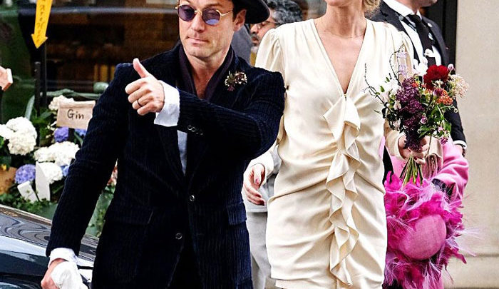 Jude Law's wedding suit