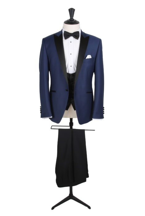 Navy tuxedo dinner suit groom wedding