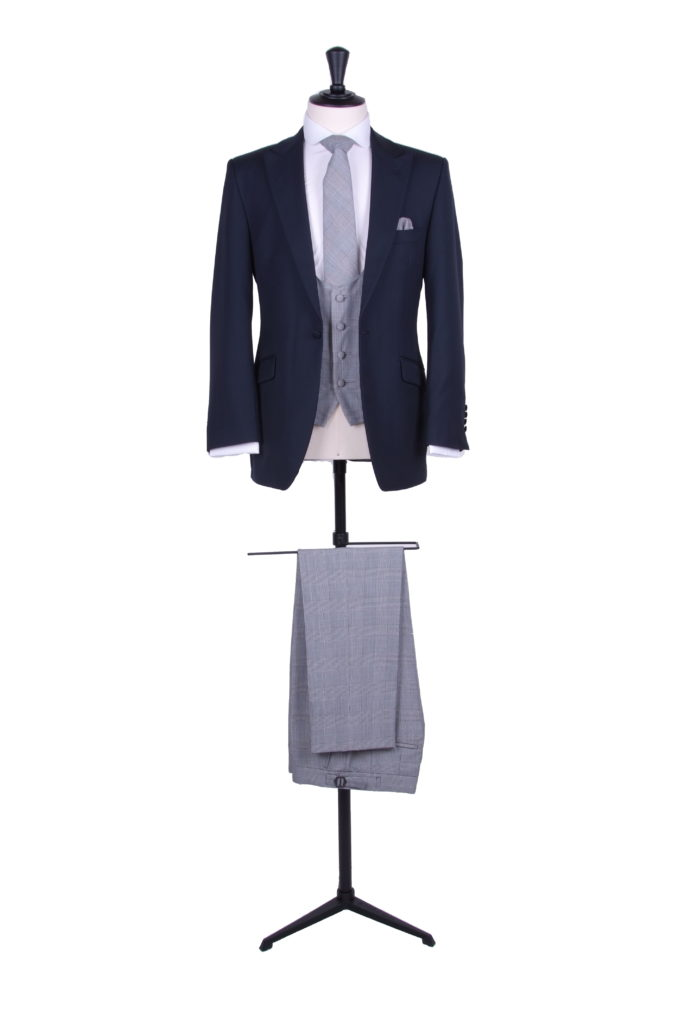 Navy suit grey trouser
